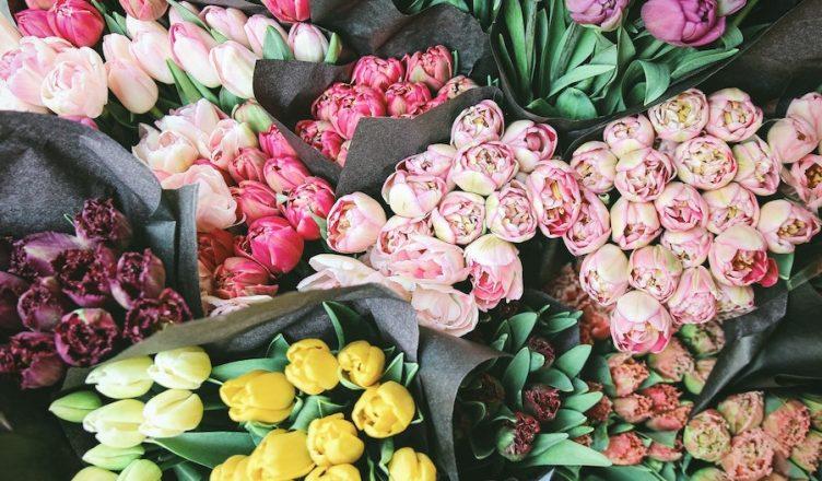 floristas no porto
